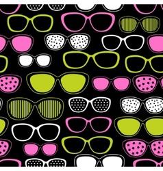 sunglasses seamless pattern vector image