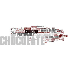 The chocolate lovers haven text background word vector