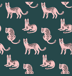 trendy hand drawn seamless pattern with pink vector image