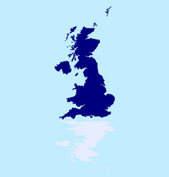 Uk and northern ireland silhouette reflection vector