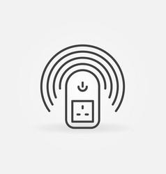 Uk wireless smart socket outline concept vector