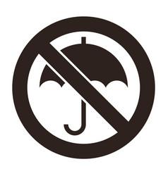 umbrella not allowed no umbrella sign vector image