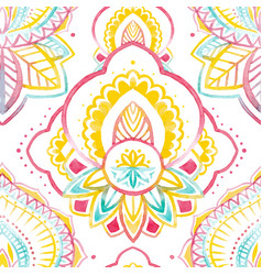 watercolor native indian pattern vector image