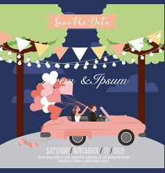 wedding save the date card vector image