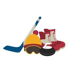 winter sport equipment vector image