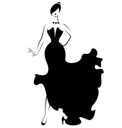 women silhouette icon on white vector image
