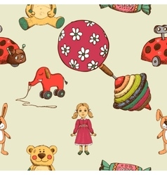 Baby toys seamless pattern vector image