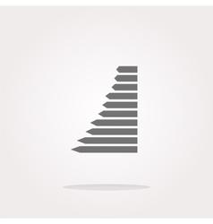 graph web button icon isolated Web Icon vector image