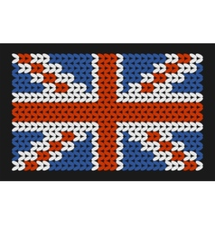 Knitted flag of Great Britain vector image vector image