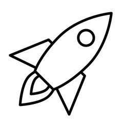 rocket line icon business startup symbol vector image vector image