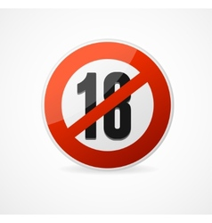 Round Icon of 18 sign vector image