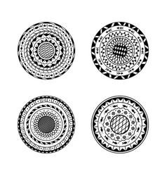 set of four mandalas ethnic decorative mandala vector image