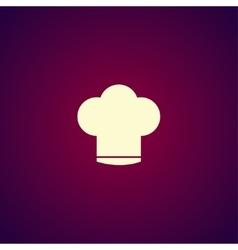 Chef cap icon vector image