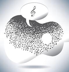 Guitar Notes Speech vector image vector image