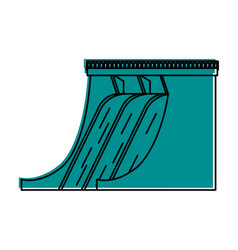 hydroelectric plant icon image vector image vector image