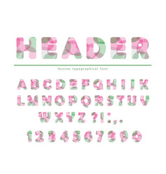 modern vibrant font stylized letters and numbers vector image vector image