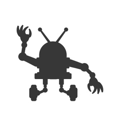 robot cartoon technology android icon vector image vector image