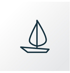 sail boat outline symbol premium quality isolated vector image vector image