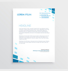 clean letterhead design with abstract blue shapes vector image vector image
