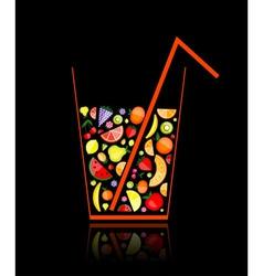 fruit juice glass vector image