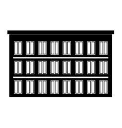 hotel the black color icon vector image vector image