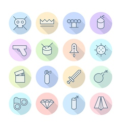 icons line round miscellaneous thin vector image vector image