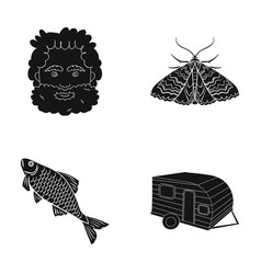 picnic rest tourism and other web icon in black vector image