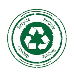 Recycle stamp vector image vector image