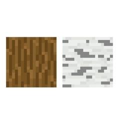 Texture for platformers pixel art - brown vector image vector image