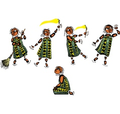 Young African Girl vector image