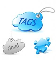 internet cloud tag icon vector image vector image