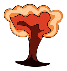 A bomb explosion or color vector