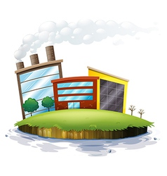 An island with factories vector image