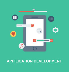 application development concept design vector image