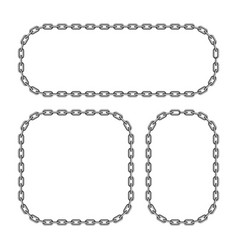 Black chain frame vector