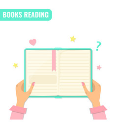Books reading literature concept vector