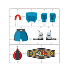 Boxing set plastic model kit collection champion vector