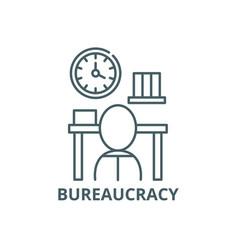 Bureaucracy line icon bureaucracy outline vector