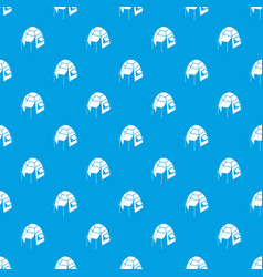 camping tent pattern seamless blue vector image
