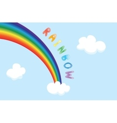 cartoon rainbow vector image