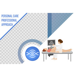 cartoon ultrasound pregnancy screening banner vector image
