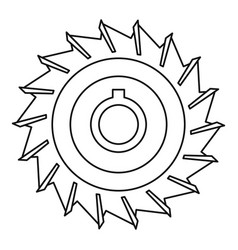 Circular saw disk icon outline style vector