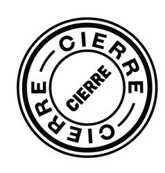 Closure stamp in spanish vector