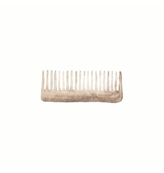 Comb or hair brush Watercolor brushes on the vector image