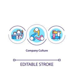 Company culture concept icon vector