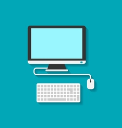 Computer PC Keyboard and Mouse vector image