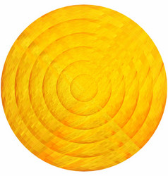 Concentric yellow circles in mosaic vector