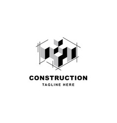 Construction logo design with letter x shape icon vector