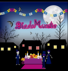 day of the dead altar de muertos 4 vector image