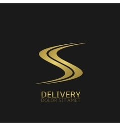 Delivery logo icon vector image